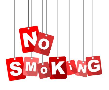 no smoking, red vector no smoking, flat vector no smoking, background no smoking Illusztráció