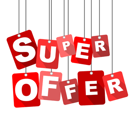 super offer, red vector super offer, flat vector super offer, background super offer