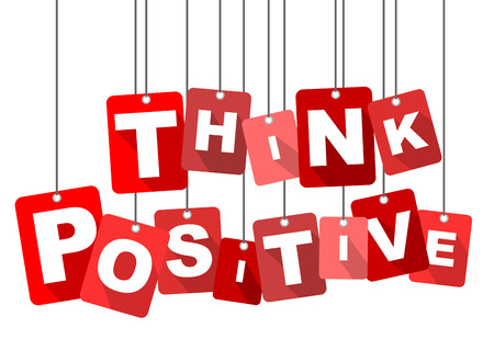 think positive, red vector think positive, flat vector think positive, background think positive