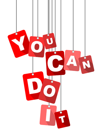 at it: you can do it, red vector you can do it, flat vector you can do it, background you can do it