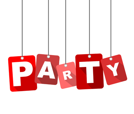 party background: party, red vector party, flat vector party, background party Illustration