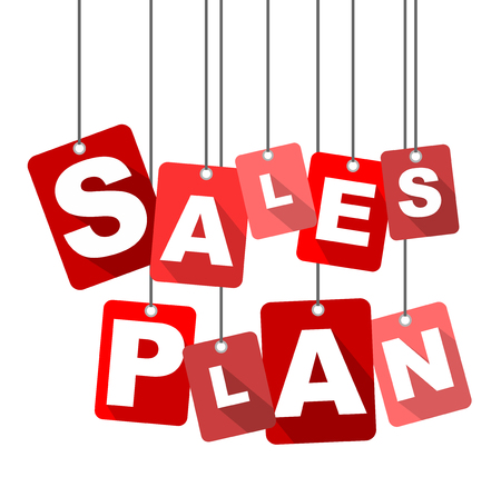sales plan, red vector sales plan, flat vector sales plan, background sales plan