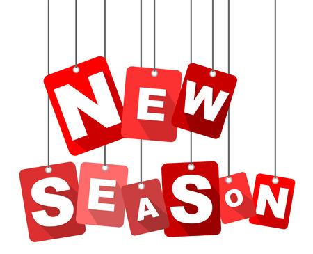 new season, red vector new season, flat vector new season, background new season