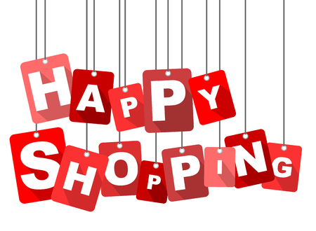 happy shopping, red vector happy shopping, flat vector happy shopping, background happy shopping