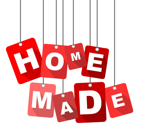 home made, red vector home made, flat vector home made, background home made Çizim
