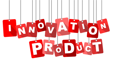 product innovation: innovation product, red vector innovation product, flat vector innovation product background innovation product