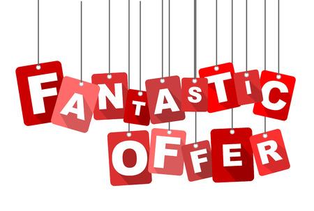 fantastic: fantastic offer, red vector fantastic offer, flat vector fantastic offer, background fantastic offer