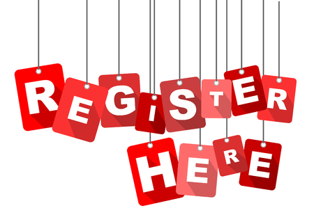 register here, red vector register here, flat vector register here, background register here