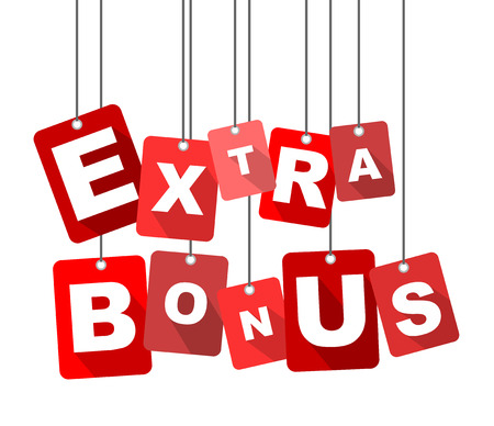extra bonus, red vector extra bonus, flat vector extra bonus, background extra bonus