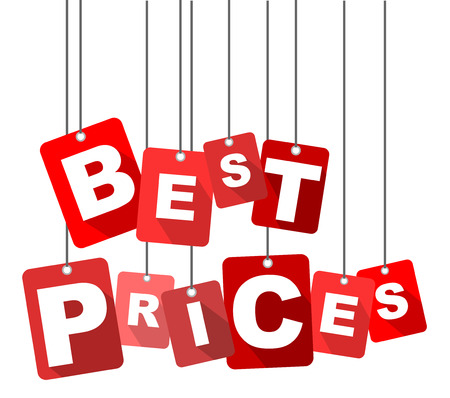 best prices, red vector best prices, flat vector best prices, background best prices Illustration