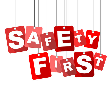 safety first: safety first, red vector safety first, flat vector safety first, background safety first