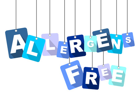 alergenos: allergens free, blue vector allergens free, flat vector allergens free, background allergens free