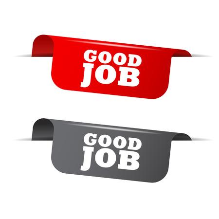 good: good job, red banner good job, vector element good job