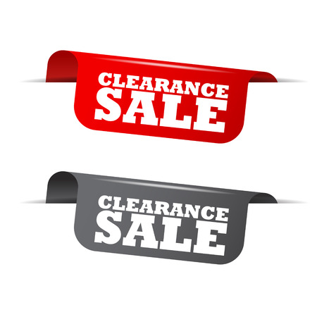 clearance: clearance sale, red banner clearance sale, vector element clearance sale