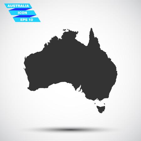 fiambres: gray vector australia icon Vectores
