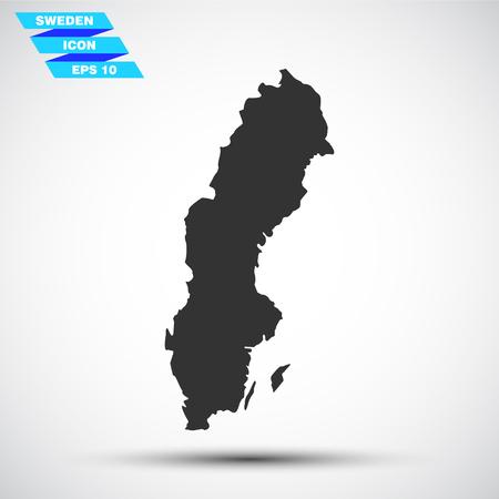 sweden: gray vector sweden icon Illustration