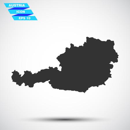fiambres: Austria icono gris del vector Vectores