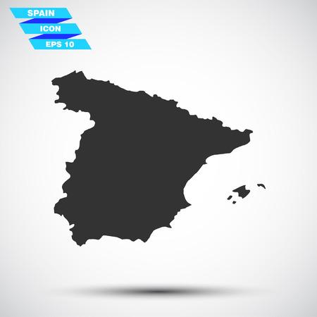 fiambres: gris del vector icono de España