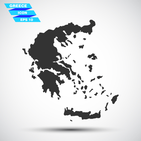 made in greece: gray vector greece icon