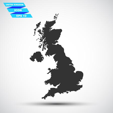 fiambres: gray vector great britain icon