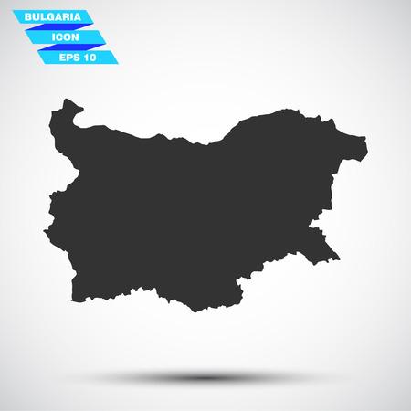 gray vector bulgaria icon