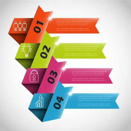 four step vector infographic template 矢量图像