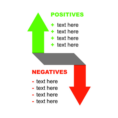 positive and negative: background infographic positive negative