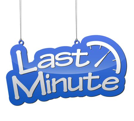 minute: blue background last minute