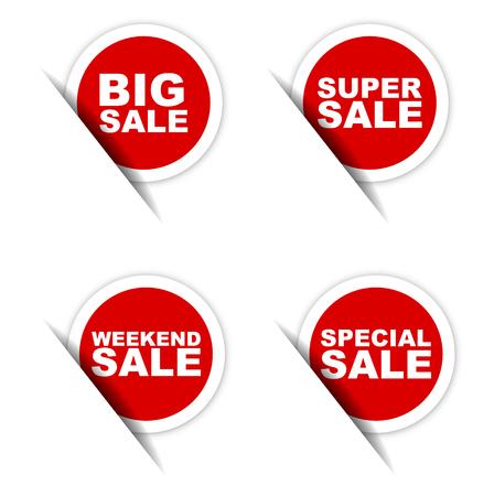 big sale sticker, weekend sale sticker, super sale sticker, special sale sticker Vetores