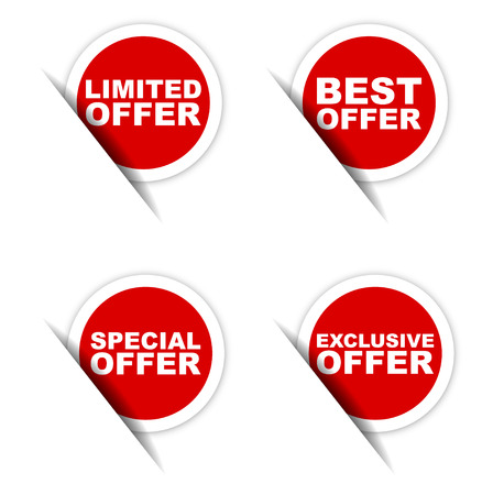 exclusive: limited offer sticker, best offer sticker, special offer sticker, exclusive offer sticker