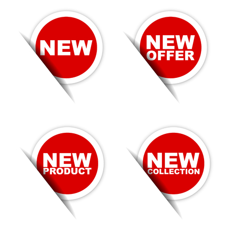 new sticker, new offer sticker, new product sticker, new collection sticker