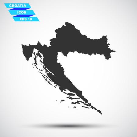 croatia: gray croatia icon Illustration