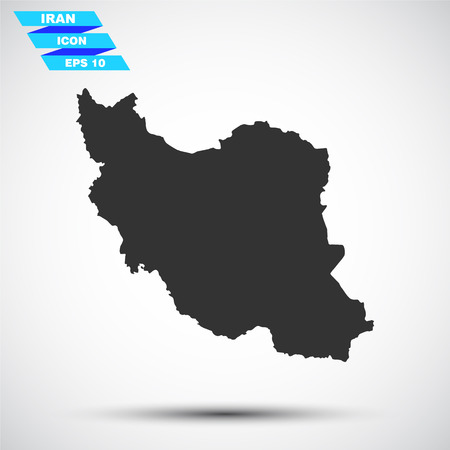 iran: gray iran icon