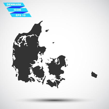 灰色のデンマークのアイコン