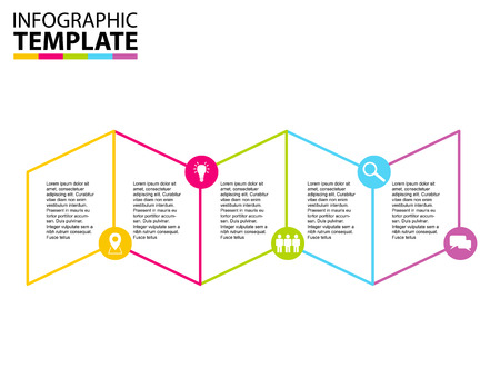 lineart: six step lineart infographic template