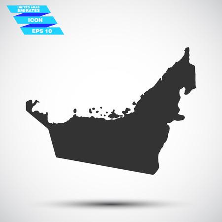 회색 연합 아랍 에미리트 아이콘