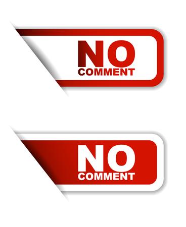rojo sin comentarios, sin comentarios etiqueta engomada, bandera, no hay comentario