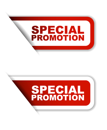 red special promotion, sticker special promotion, banner special promotion