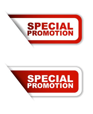 rode speciale promotie, sticker speciale promotie, banner speciale promotie Stock Illustratie