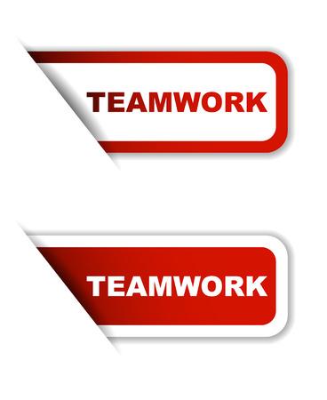 teamwork: red teamwork, sticker teamwork, banner teamwork