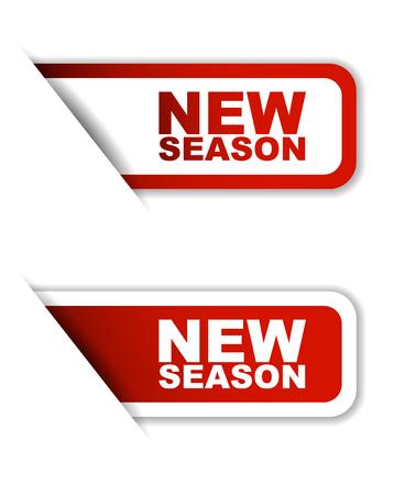 season: red vector new season, sticker new season, banner new season