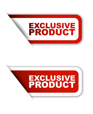 exclusive: red vector exclusive product, sticker exclusive product, banner exclusive product