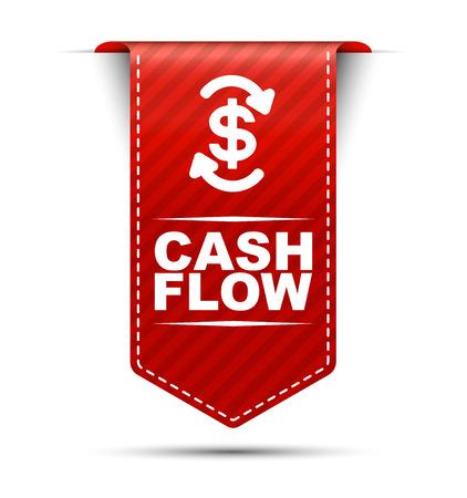 flujo de efectivo, flujo de efectivo de vector rojo, flujo de efectivo de banner