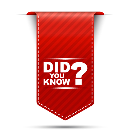 did you know, red vector did you know, banner did you know Ilustração