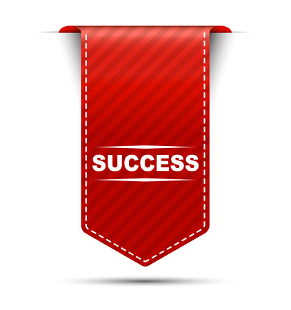 success: success, red vector success, banner success Illustration