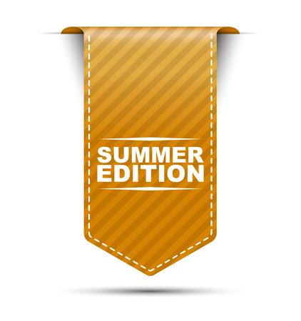 edition: summer edition, orange vector summer edition, banner summer edition