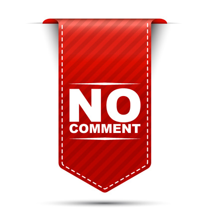 critique: no comment, red vector no comment, banner no comment Illustration