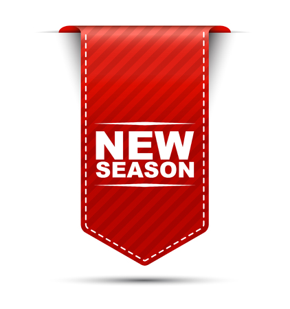 new season, red vector new season, banner new season 矢量图像