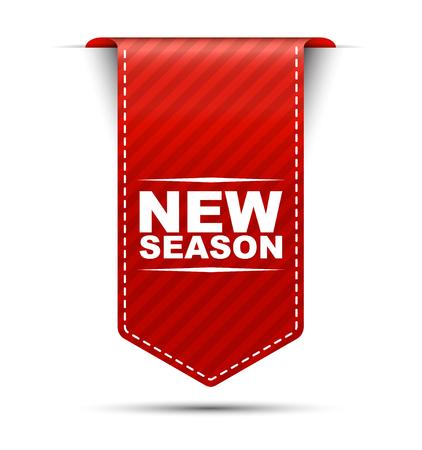 nieuw seizoen, rode vector nieuw seizoen, banner nieuw seizoen Vector Illustratie