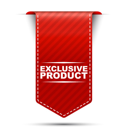 exclusive: exclusive product, red vector exclusive product, banner exclusive product